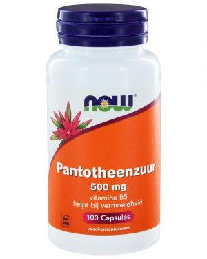3245 300x375 - Pantotheenzuur 500 mg (B5) (100 caps) - NOW Foods
