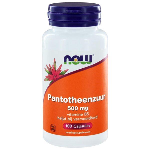 3245 600x600 - Pantotheenzuur 500 mg (B5) (100 caps) - NOW Foods