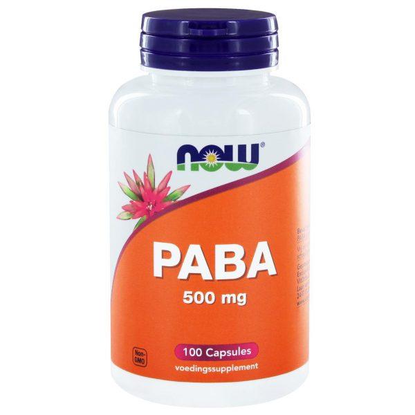 3280 600x600 - PABA 500 mg (100 caps) - NOW Foods