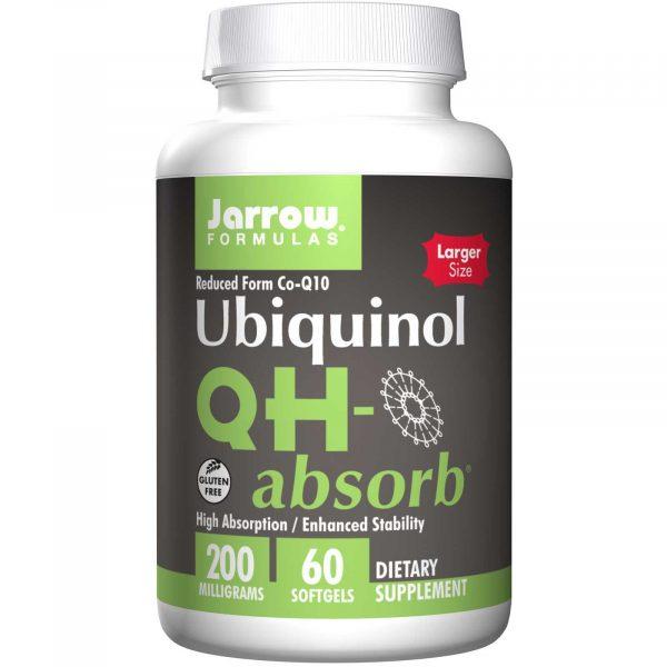 4 5 600x600 - Ubiquinol QH-Absorb 200 mg (60 softgels) - Jarrow Formulas