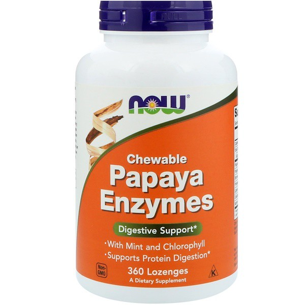 5 1 3 - Papaya Enzymes Chewable (360 Lozenges) - Now Foods