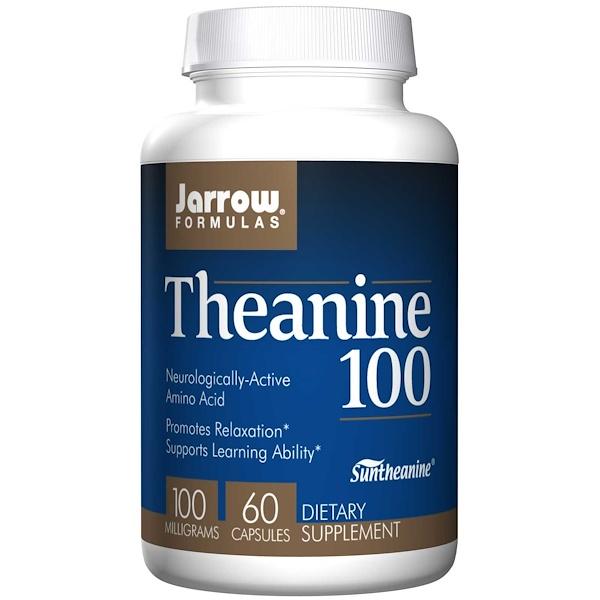 5 52 - Theanine 100 mg (60 Vegetarian Capsules) - Jarrow Formulas