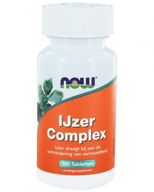 6410 300x375 - IJzer Complex (100 tabs) - NOW Foods