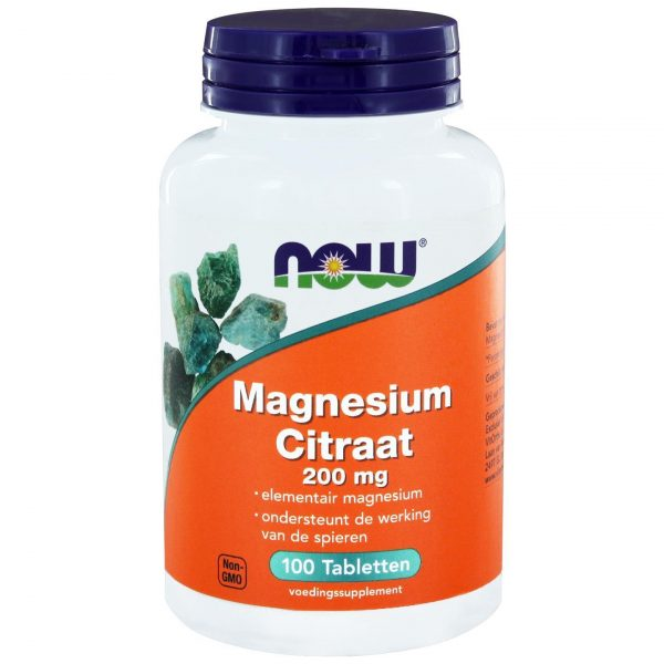 6510 600x600 - Magnesium Citraat 200 mg (100 tabs) - NOW Foods