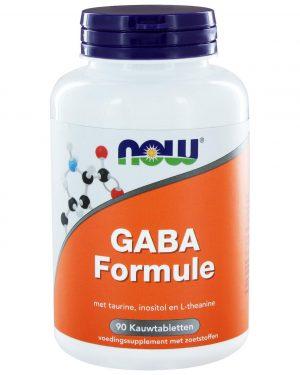 7297 300x375 - GABA Formule (90 kauwtabs) - NOW