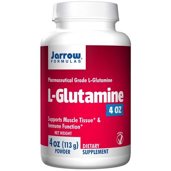 7 26 - L-Glutamine Powder (113 gram) - Jarrow Formulas