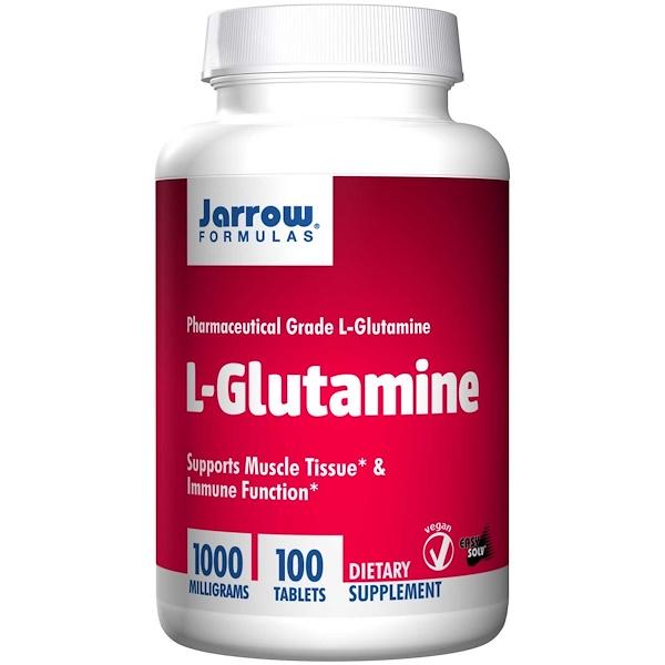 7 30 - L-Glutamine 1000 mg (100 tablets) - Jarrow Formulas