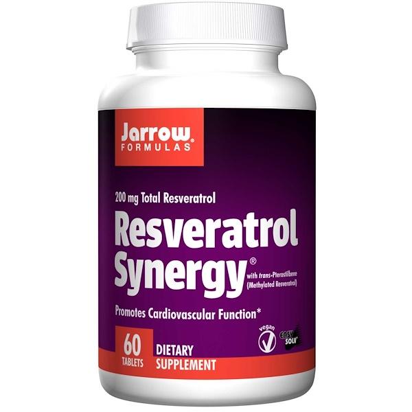 7 90 - Resveratrol Synergy 200 mg Total Resveratrol (60 tablets) - Jarrow Formulas
