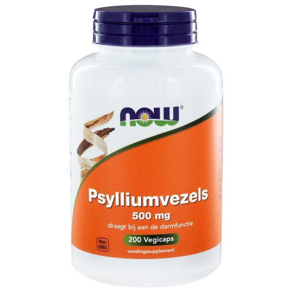 8330 600x600 - Psylliumvezels 500 mg (200 caps) - NOW Foods