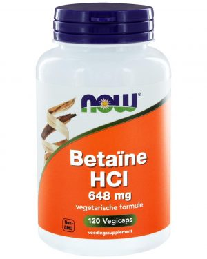 8430 300x375 - Betaïne HCl 648 mg (120 caps) - NOW Foods