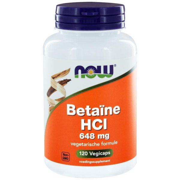 8430 600x600 - Betaïne HCl 648 mg (120 caps) - NOW Foods