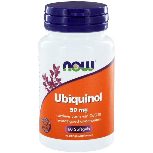 8958 600x600 - Ubiquinol 50 mg (60 softgels) - NOW Foods