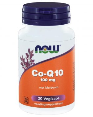 8968 300x375 - Co-Q10 100 mg met Meidoorn (30 vegicaps) - NOW Foods