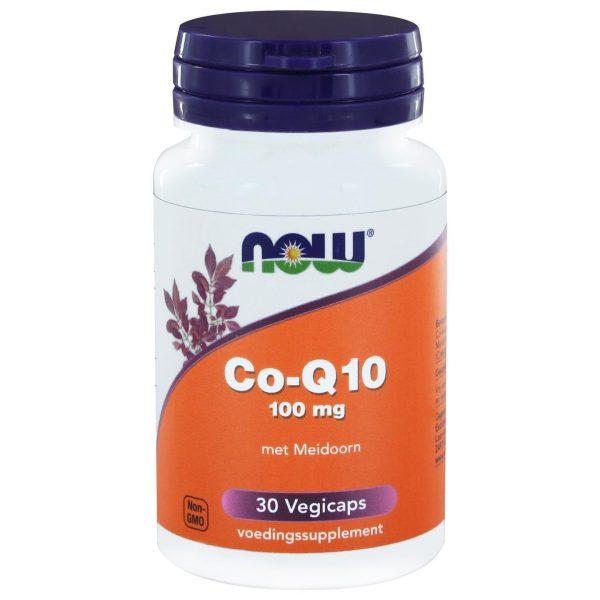 8968 600x600 - Co-Q10 100 mg met Meidoorn (30 vegicaps) - NOW Foods