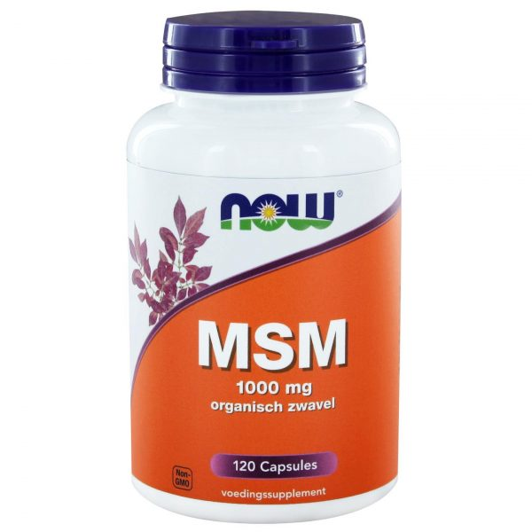 8990 600x600 - MSM 1000 mg (120 caps) - NOW Foods