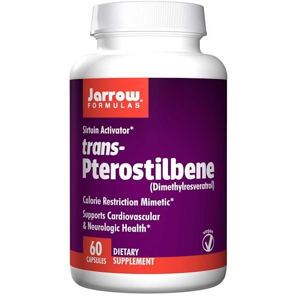 8 40 - trans-Pterostilbene (60 Vegetarian Capsules) - Jarrow Formulas