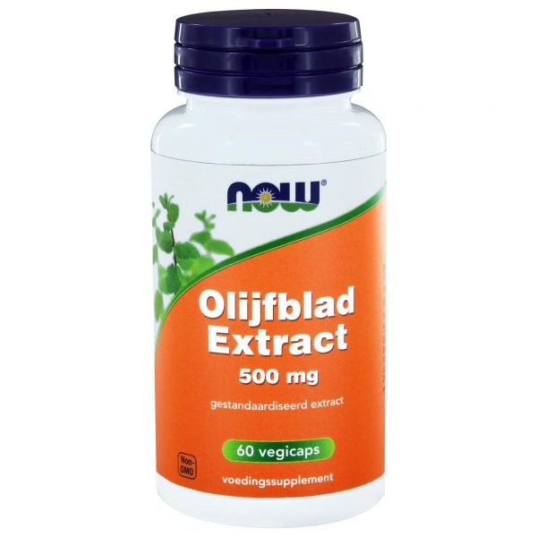 9196 600x600 - Olijfblad Extract 500 mg (60 vegicaps) - NOW Foods