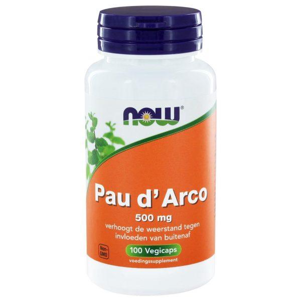 9204 600x600 - Pau d'Arco 500 mg (100 vegicaps) - NOW Foods