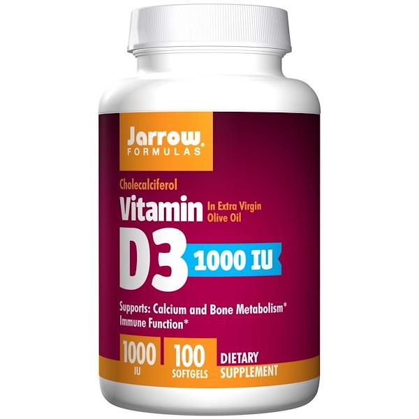 9 15 - Vitamin D3 1000 IU (100 softgels) - Jarrow Formulas