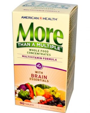 AMH 51244 1 1 300x375 - More Than A Multiple with Brain Essentials (90 tablets) - American Health