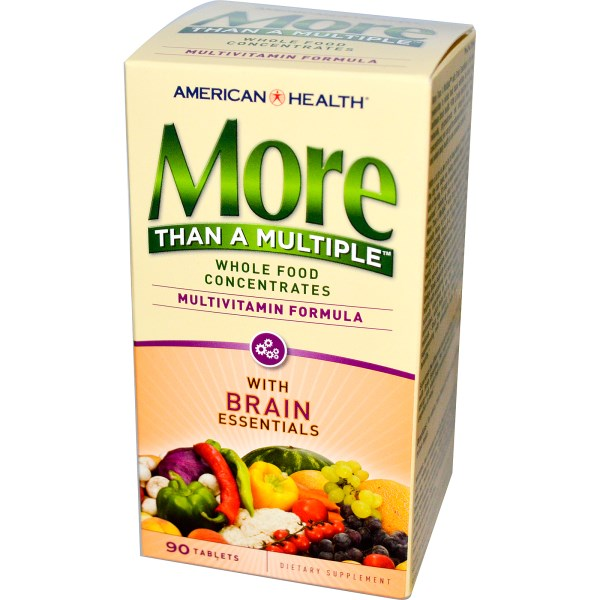 AMH 51244 1 1 - More Than A Multiple with Brain Essentials (90 tablets) - American Health
