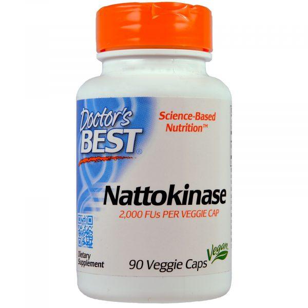 DRB 00125 7 1 600x600 - Doctor's Best, Nattokinase, 2,000 FU, 90 Veggie Caps