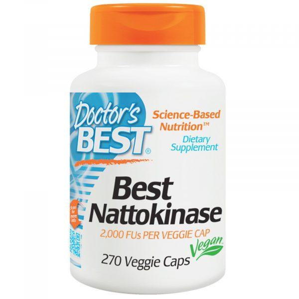 DRB 00253 6 1 600x600 - Doctor's Best, Best Nattokinase, 2,000 FU, 270 Veggie Caps