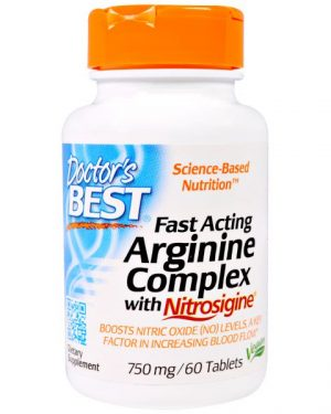 DRB 00406 1 300x375 - Fast Acting Arginine Complex with Nitrosigine, 750 mg (60 Tablets) - Doctor's Best