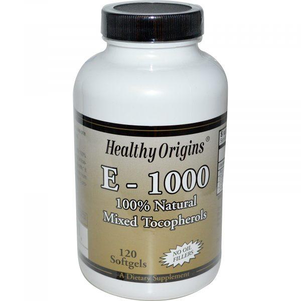 HOG 15150 1 1 600x600 - Healthy Origins, E-1000, 120 Softgels
