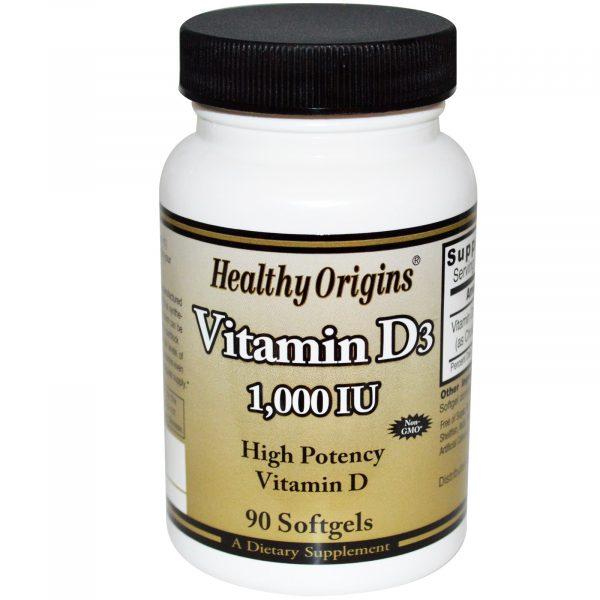 HOG 15313 5 1 600x600 - Healthy Origins, Vitamin D3, 1000 IU, 90 Softgels