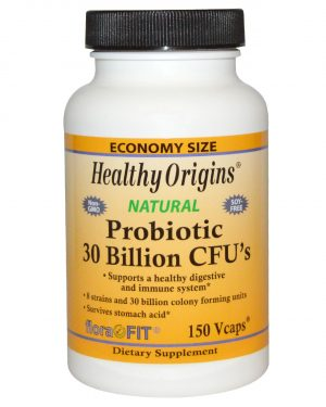 HOG 55518 6 1 300x375 - Healthy Origins, Probiotic, 30 Billion CFU's, 150 Vcaps