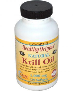 HOG 81456 1 1 300x375 - Healthy Origins, Krill Oil, Natural Vanilla Flavor, 1,000 mg, 120 Softgels