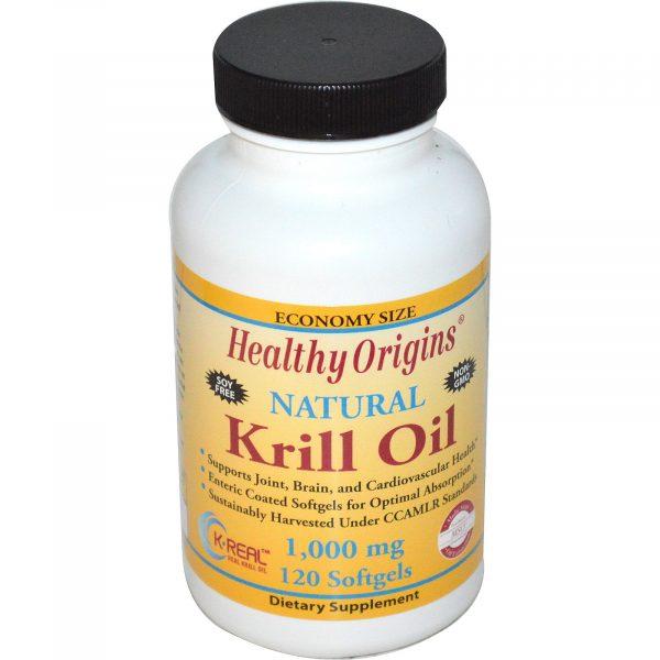HOG 81456 1 1 600x600 - Healthy Origins, Krill Oil, Natural Vanilla Flavor, 1,000 mg, 120 Softgels