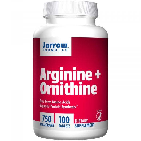 JRW 15041 9 1 600x600 - Arginine + Ornithine 750 mg (100 Tablets) - Jarrow Formulas