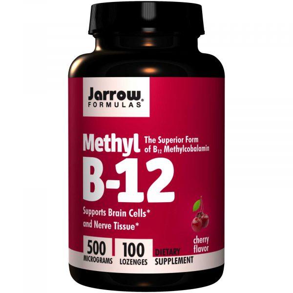 JRW 18015 9 1 600x600 - Methyl B-12 Cherry Flavor 500 mcg (100 Lozenges) - Jarrow Formulas