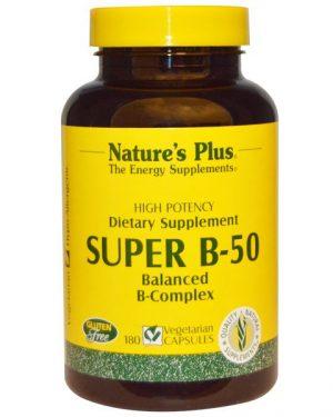 NAP 01330 4 300x375 - Super B-50 (180 Veggie Caps) - Nature's Plus