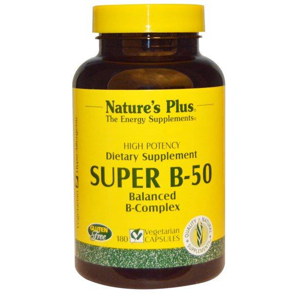 NAP 01330 4 - Super B-50 (180 Veggie Caps) - Nature's Plus