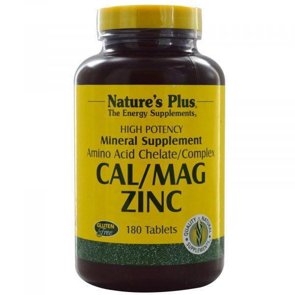 NAP 03366 3 600x600 - Cal/Mag Zinc (180 Tablets) - Nature's Plus