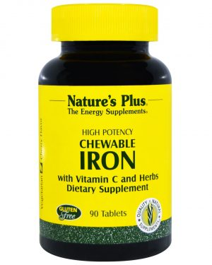 NAP 03421 4 300x375 - Chewable Iron, Cherry Flavor (90 Tablets) - Nature's Plus
