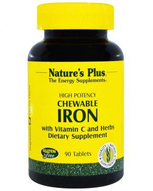NAP 03421 4 300x375 - Chewable Iron, Cherry Flavor (90 Tablets) - Nature's Plus