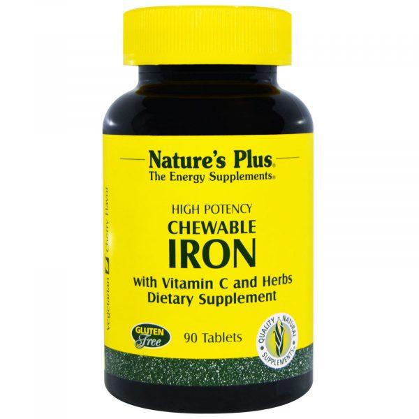NAP 03421 4 600x600 - Chewable Iron, Cherry Flavor (90 Tablets) - Nature's Plus