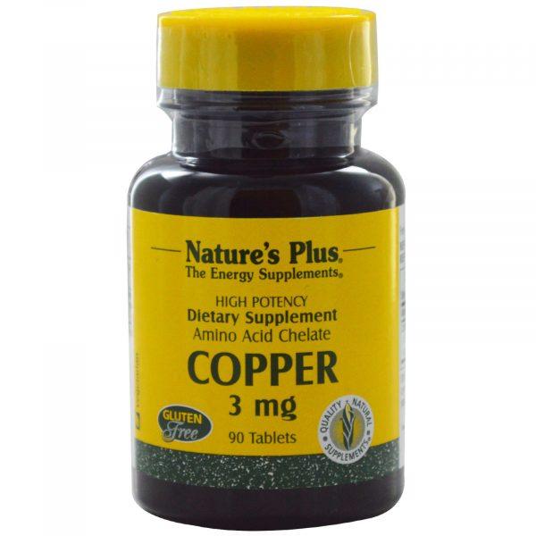 NAP 03430 2 1 600x600 - Copper, 3 mg (90 Tablets) - Nature's Plus