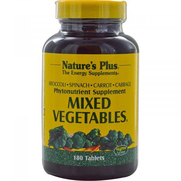 NAP 03778 2 600x600 - Mixed Vegetables (180 Tablets) - Nature's Plus