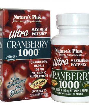 NAP 03952 2 1 300x375 - Ultra Cranberry 1000 (60 Tablets) - Nature's Plus