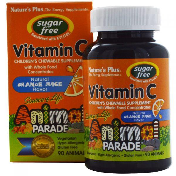 NAP 29922 2 600x600 - Vitamin C, Sugar Free, Natural Orange Juice Flavor (90 Animals) - Nature's Plus