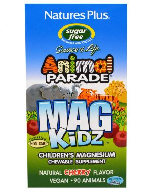 NAP 29942 1 300x375 - MagKidz, Children's Magnesium, Natural Cherry Flavor (90 Animals) - Nature's Plus