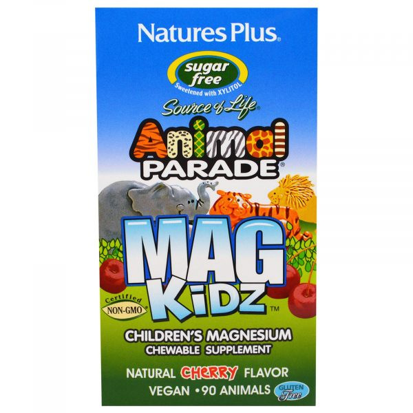 NAP 29942 1 600x600 - MagKidz, Children's Magnesium, Natural Cherry Flavor (90 Animals) - Nature's Plus