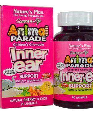 NAP 29949 2 300x375 - Children's Chewable Inner Ear Support, Natural Cherry Flavor (90 Animals) - Nature's Plus
