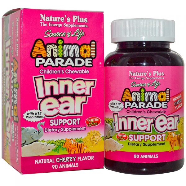 NAP 29949 2 600x600 - Children's Chewable Inner Ear Support, Natural Cherry Flavor (90 Animals) - Nature's Plus
