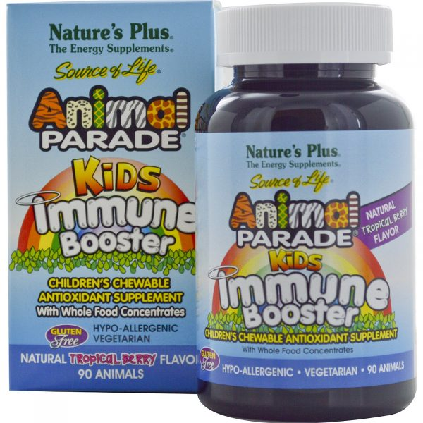 NAP 29978 4 1 600x600 - Kids Immune Booster, Natural Tropical Berry Flavor (90 Animals) - Nature's Plus